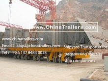 ChinaTrailers manufacture Shipyard Transporter fully compatible with original Goldhofer THP/SL for Brazil