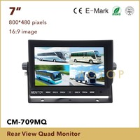 7 inch tft lcd car rear view monitor with stand and sunshade