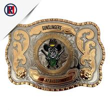 Custom zinc alloy made logo military belt buckle westerm cowboy belt buckle with logo for men