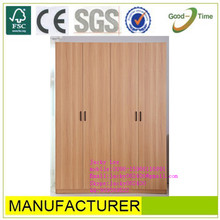 Oak wooden grain color melamined MDF / chipboard wardrobe closet sale,diy portable closet wardrobe,mdf wardrobe designs
