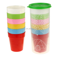 Non-Fragile Melamine Outdoor Cup Set Travel Mug with 6 Colors Available Camping Cup
