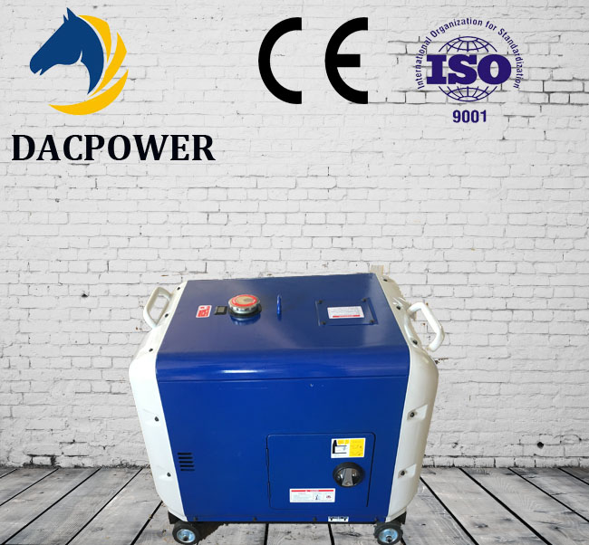 AC Single Phase silent portable 3kw 5kw 6kw 7kw Diesel Generator