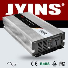 2000w pure sine inverter converts 12V DC from battery to 230/120 Volt AC for solar system/household