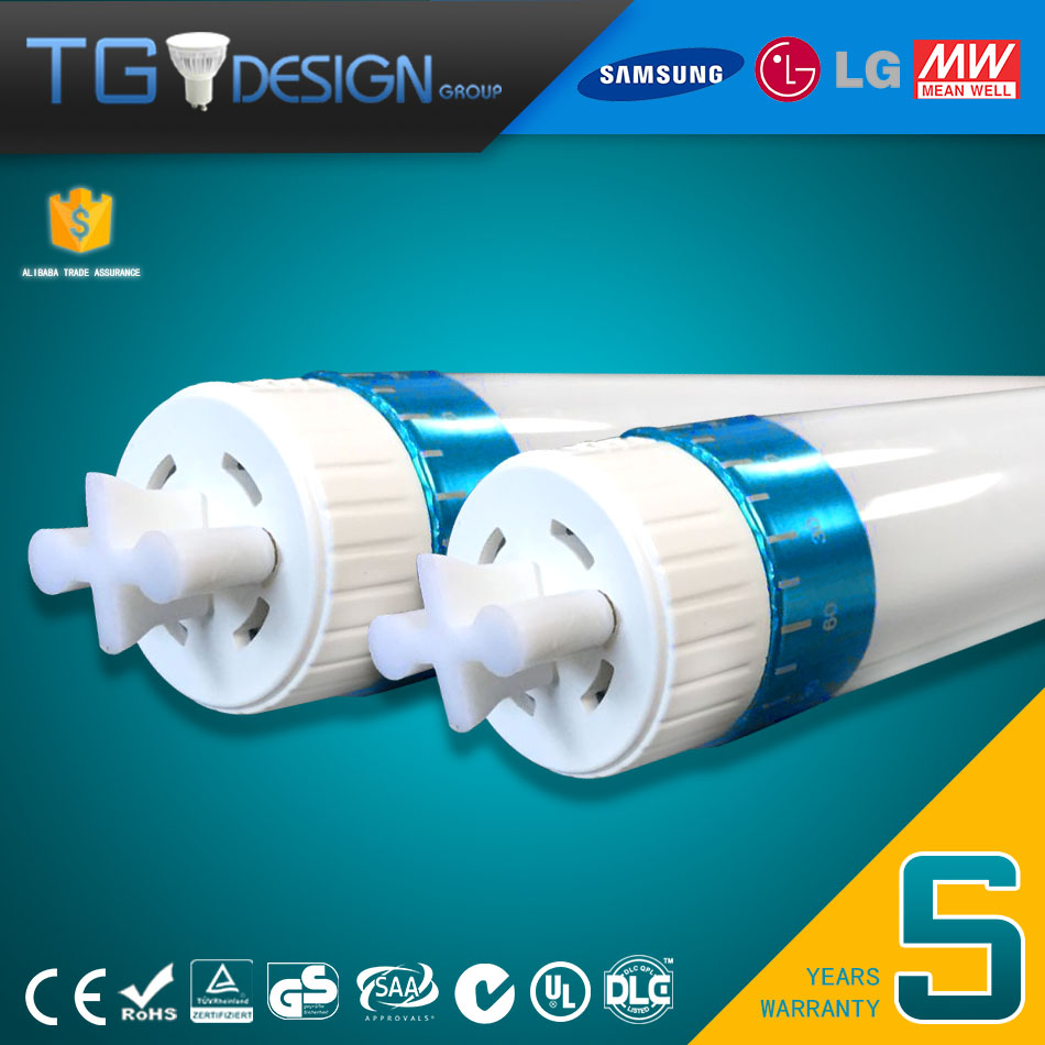 Healthy Uniform Lighting 22W T8 LED Tubes with Rotatable End Caps Special for Offices Corridors Receptions Schools and Hospital