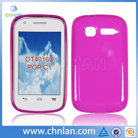 Flexible gel silicon cell phone case for Alcatel one touch pop c1 OT4016D