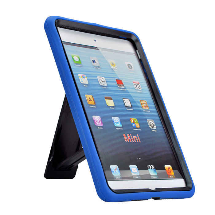 Dual Color Stylish High Quality 2 in 1 ShockProof Robot Protective Silicone Heavy Duty Hard Back Case Cover For Apple ipad Mini