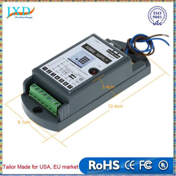 AC110-220V to DC 12V/3A Power Supply for Door Entry Access Control System
