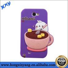 3D Cartoon Molang Rabbit Silicone back cover phone case for samsung galaxy s4