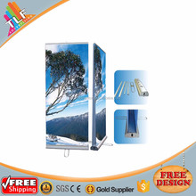 Interior roll up door, advertising product roll up banner, nude groups of women