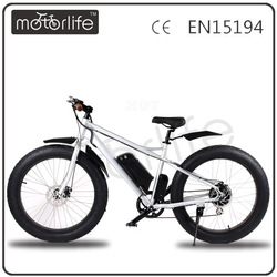 MOTORLIFE/OEM brand HOT SALE 36v 500w fat tire off road electric bike
