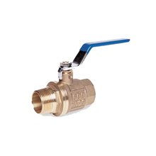 600 WOG Long Handle MXNPT Female Brass Ball Valve For 80 Gallon Air Compressor