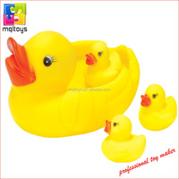 100% safety vinyl toy yellow duck mummy with small duck for sale