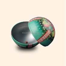 D68mm Metal Gift Christmas Chocolate Tin Ball