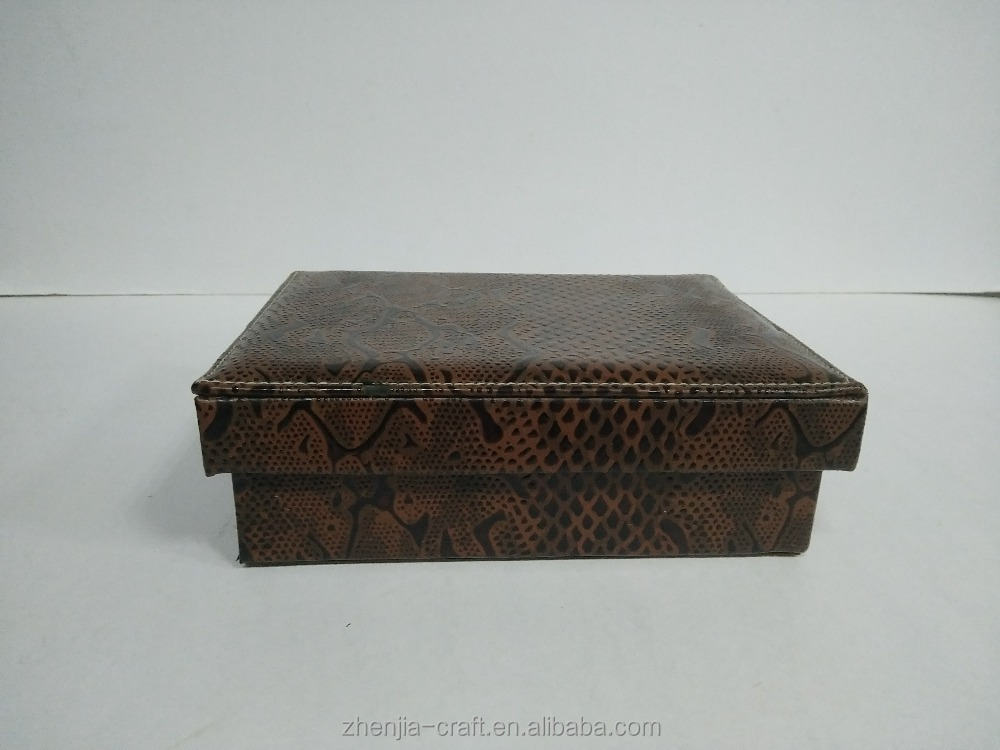 fancy gift packing box with luxury leather design for cigar