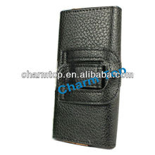 Litchi Leather Belt Clip Pouch For iPhone 5 5G