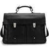 100 Cowhide Leather Briefcase Men Real