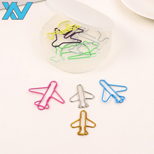 airline promotional gifts PET coated OEM airplane paper clip with plastic box