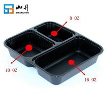 manufacturer supply plastic 3 compartment reusable easy find lids food storage containers with lids