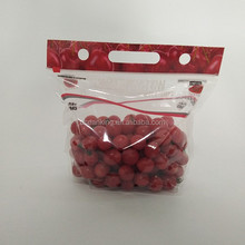 plastic fresh fruit cherry pear package bag with breathing hole