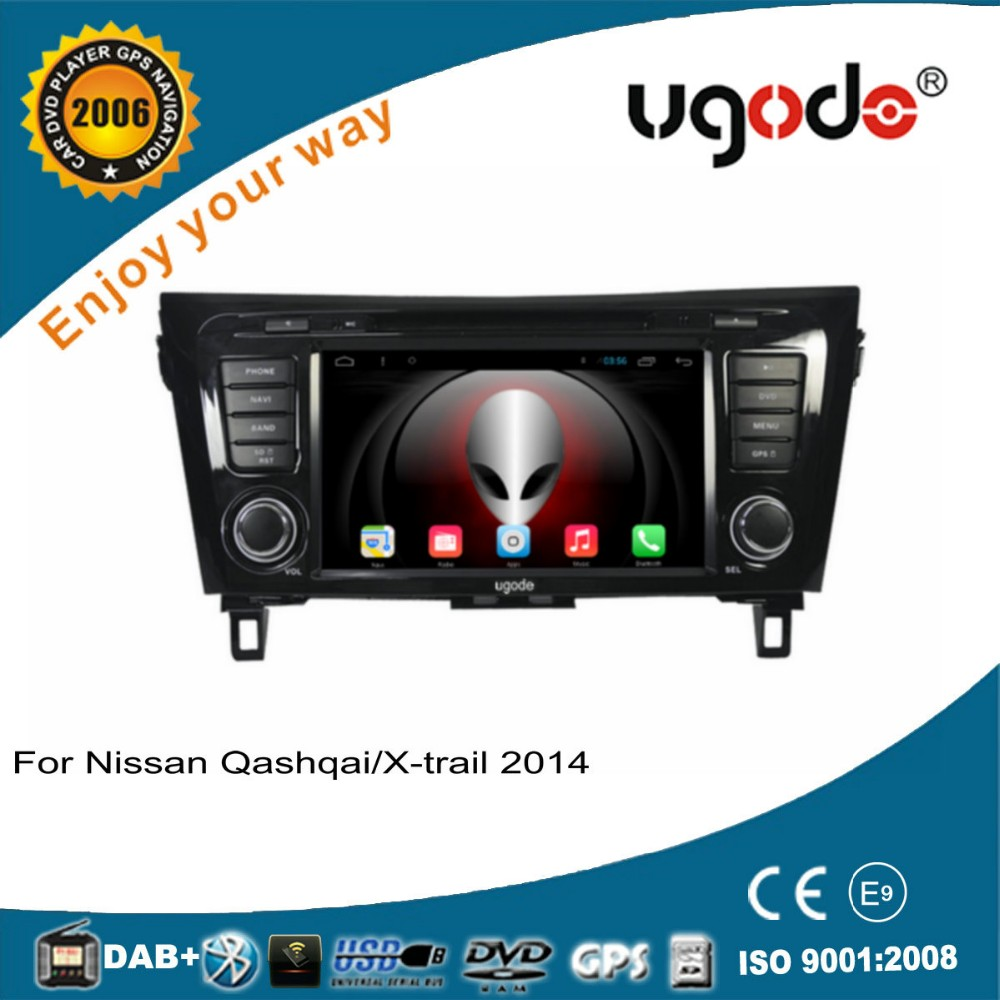 ugode double din 2 din car dvd player with gps for nissan qashqai/x-trail/rogue dvd player