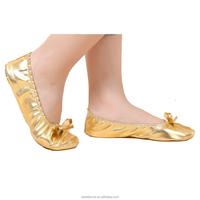 BestDance belly ballet dance foldable flat shoes cheap dance foldable flat shoes OEM