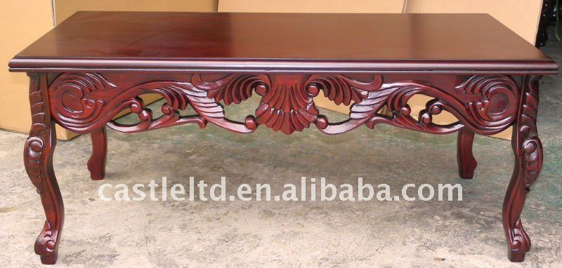 Walnut Carved Coffee table,solied wood table,consle table