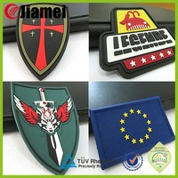 New design Custom made embossed 3d soft pvc Military Patch