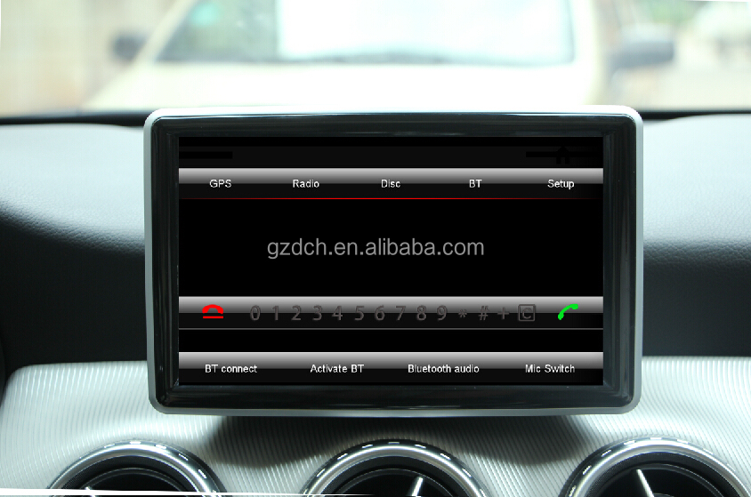 car radio dvd Capacifive touch screen 1024X600 For Mercedes Ben A B CLA GLA G original car UI mirror link WS-8848