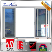 Australia AS2047 standard thermal break silver color aluminum double glass 4 panel sliding door