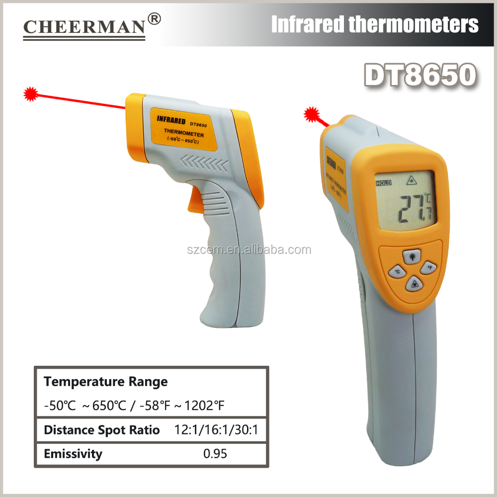 DT8650 Laser Gun Infrared thermometer for surface temperaturewith lowest price for promotion gift IR laser thermodetector