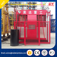 High Quality Hot Sale 150m Height Single Cage 1ton Construction Building Lift Elevator