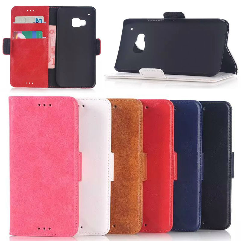 oil wax wallet leather case for HTC M9,for HTC M9 leather case