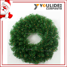wholesale artificial bulk green christmas Wreath decoration Color and size can be customize Xmas wreath with no decorations