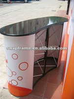 pop up counter 2*2 curved