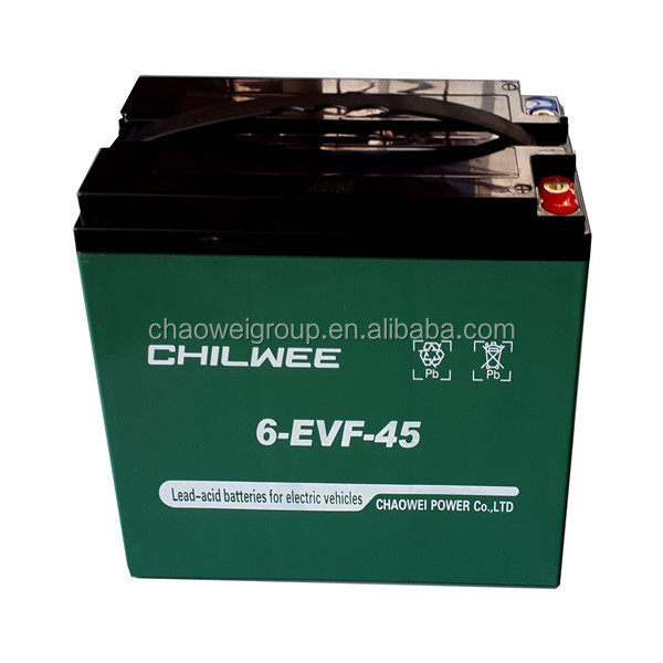 12v45AH sealed lead acid(SLA) rechargeable battery for e-vehicles