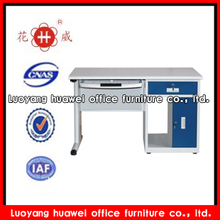 Modern easy fitted steel multifunction office desk with single cabinet