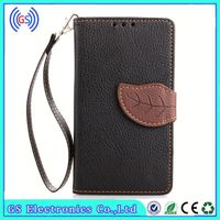 Wallet Detachable Magnet Leather Case For Iphone 4 Factory Price Leaf Style PU Wallet Leather Mobile Phone Leather Case