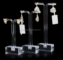 3 pcs Clear Acrylic Earrings Display Holder Acrylic Jewelry Display Stand Jewellry Display Holder
