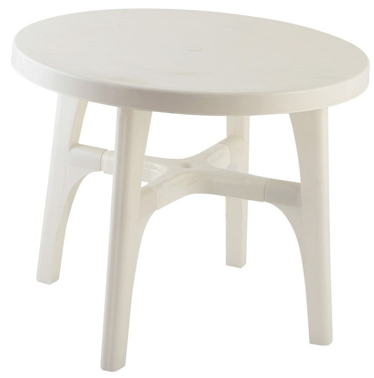 Round plastic folding garden dining table