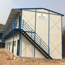 Light steel structure rock wool sandwich temporary workshop