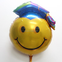 98*74cm color graduation Doctorial hat balloons for graduation ceremony party supplies Aluminum mylar ballons
