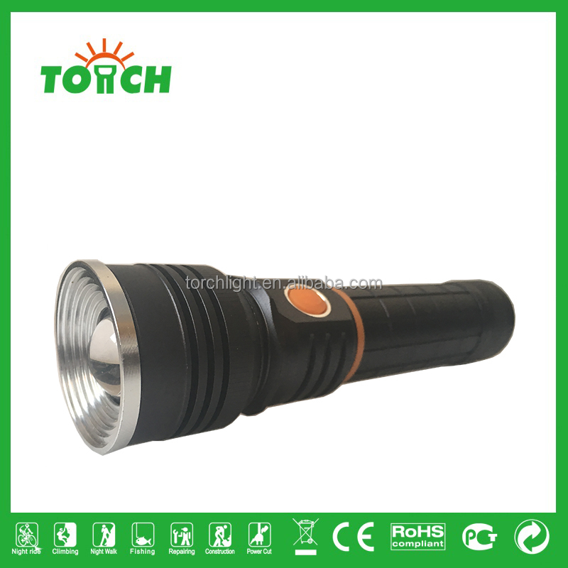 Multifunction 2 in 1 zoomable led flashlight 1200 lumen xpe and 3 watt cob bulb with magnetic rechargeable led flashlight