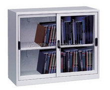 High Quality Antique Half Height Sliding Glass Door Filing Display Cabinet Office Furniture