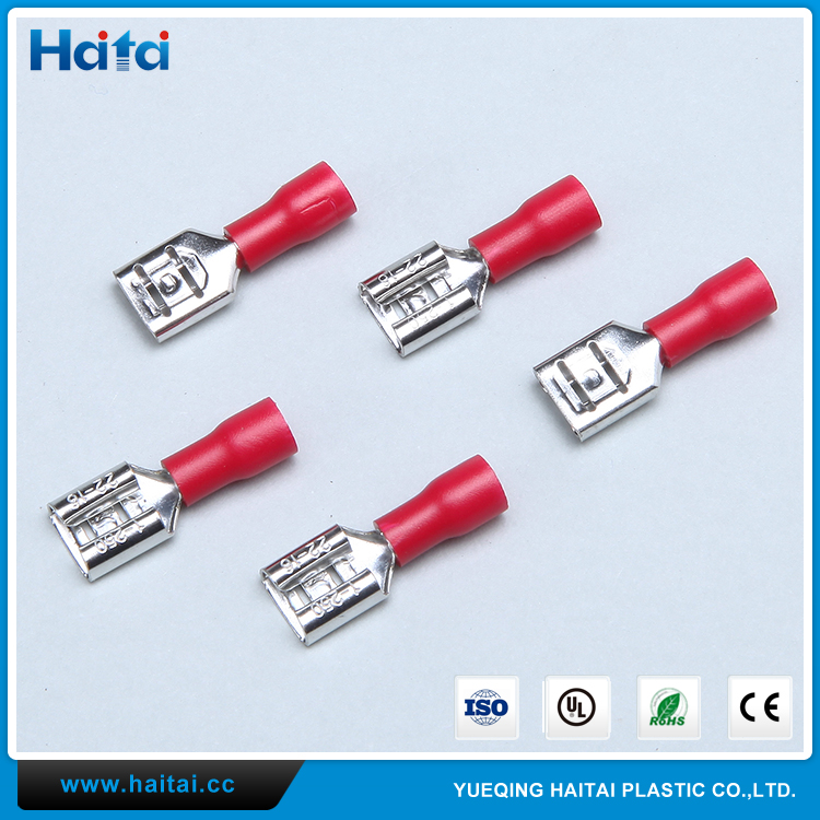 Haitai CE ROHS FDD Wire Connector Copper Insulated Female Type Cable Lug Terminal