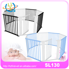 8 Sides Natural Wooden playpen Solid pine Baby Kids play pen