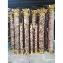 2017 new design light weight stone marble finished fiberglass architectural columns