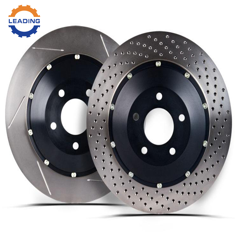 Grooved and drilled auto parts brake system Disc rotor