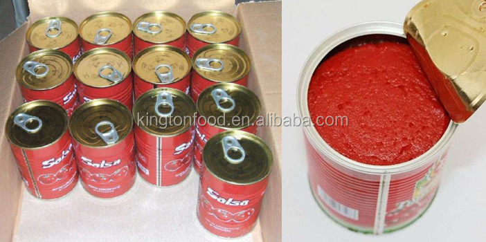 Tomato paste made of new crop in tins from 70g to 4500g with 28/30 or 36/38 brix