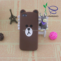 china manufacturer wholesale relaxing bear type silicone cell phone cases for 6plus