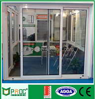 factory price high quality fashionable aluminum residential automatic sliding door,veranda sliding door